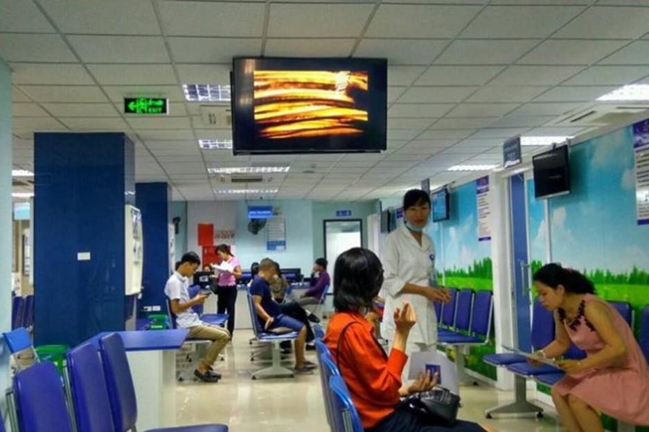 quảng cáo led lcd frame tại bệnh viện